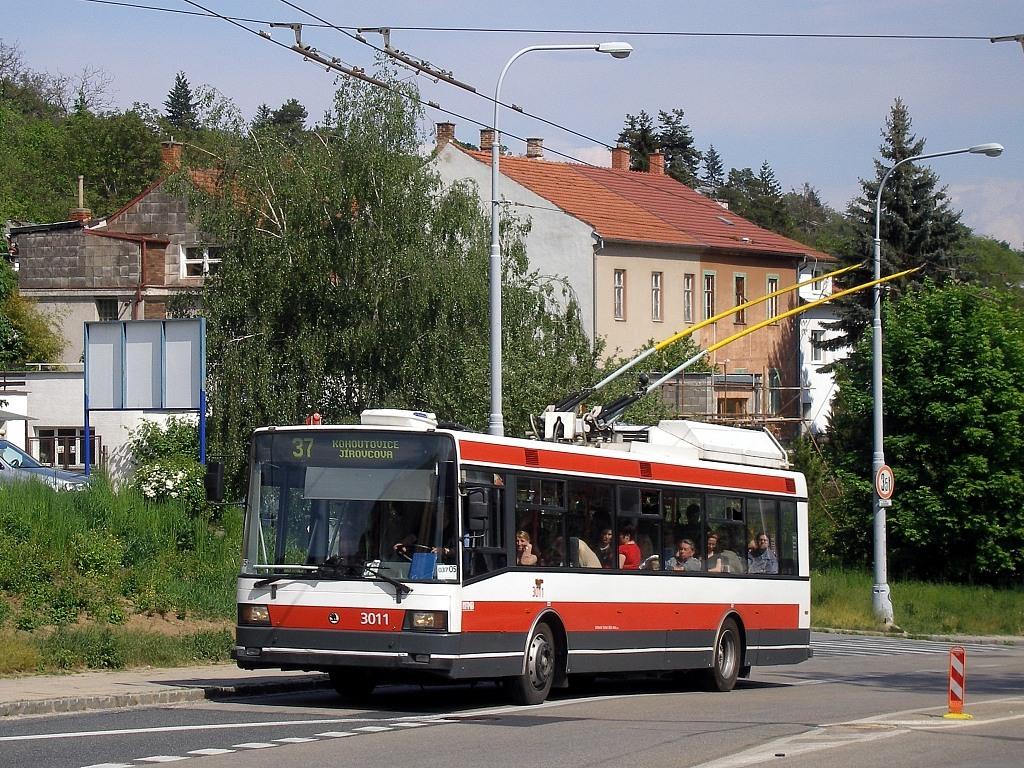 Fotogalerie » Škoda 21Tr 3011 | Brno | Kohoutovice | Libušino údolí