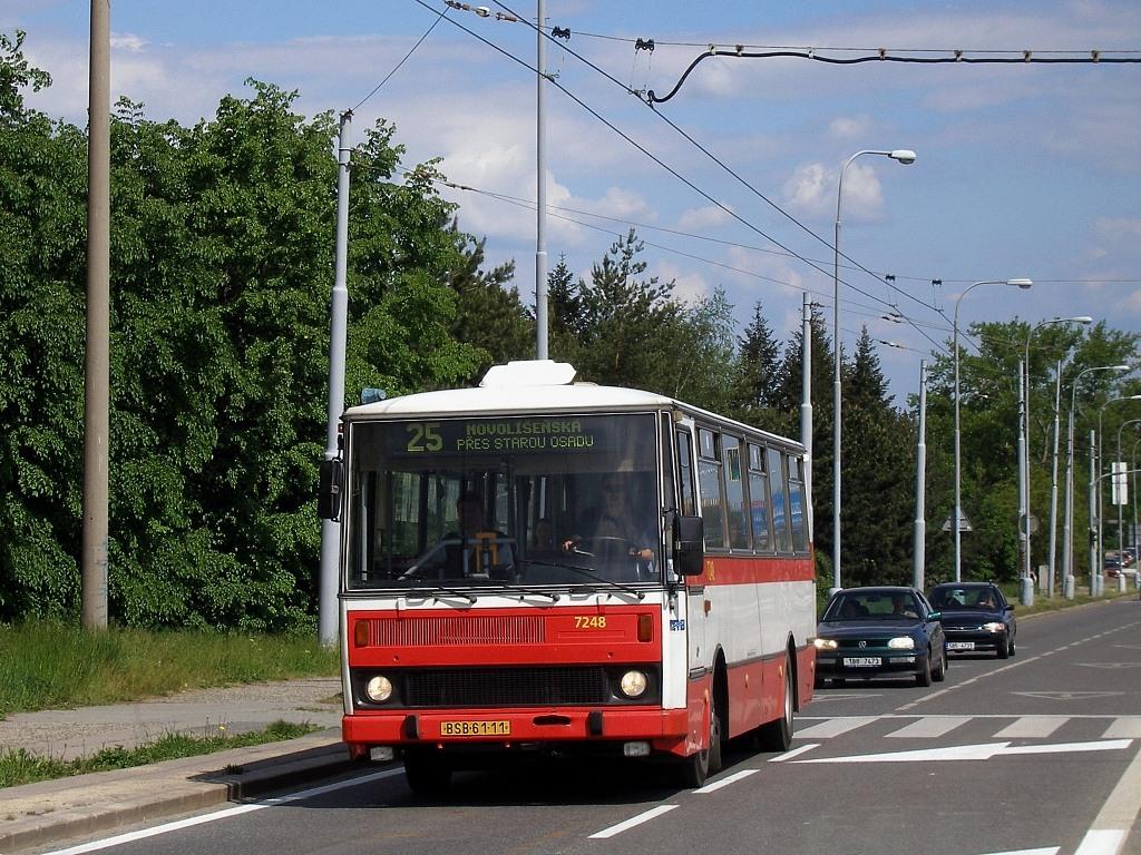 Fotogalerie » Karosa B732.20 BSB 61-11 7248 | Brno | Bohunice | Jihlavská