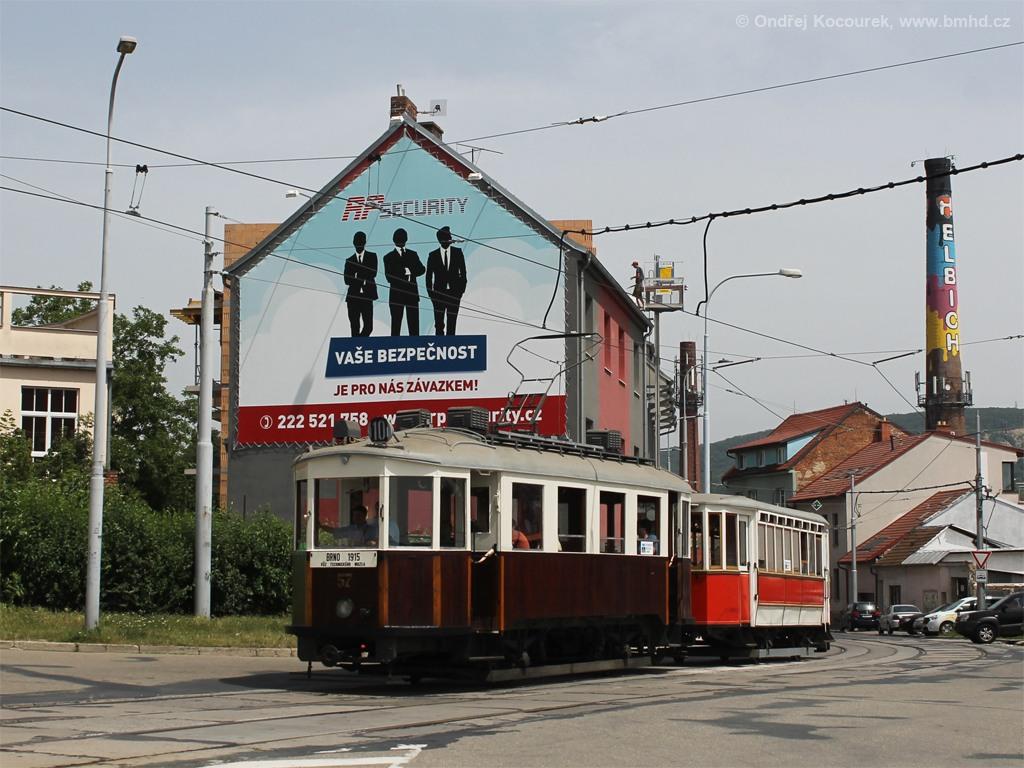 Fotogalerie » Vagónka Studénka CMg 57 | Vagónka Studénka vv 205 | Brno | Husovice | Tomkovo náměstí