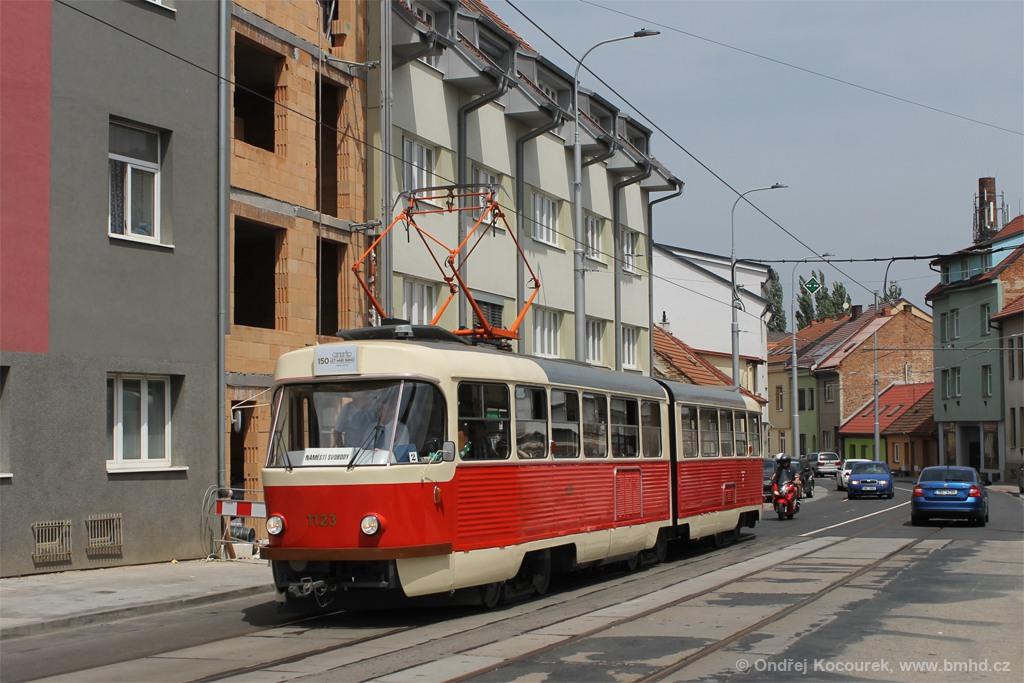 Fotogalerie » ČKD Tatra K2YU 1123 | Brno | Husovice | Valchařská