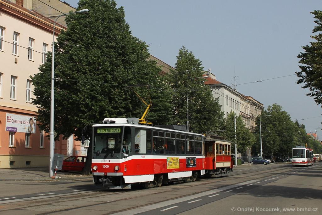 Fotogalerie » ČKD DS T6A5 1209 | Graz mv1 10 | Brno | Královo Pole | Štefánikova