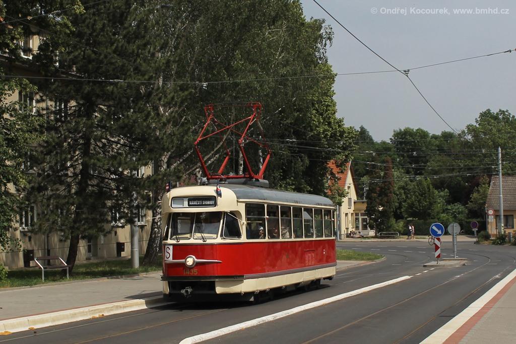 Fotogalerie » Tatra T2 1435   Brno   Maloměřice   Dolnopolní   Maloměřický most