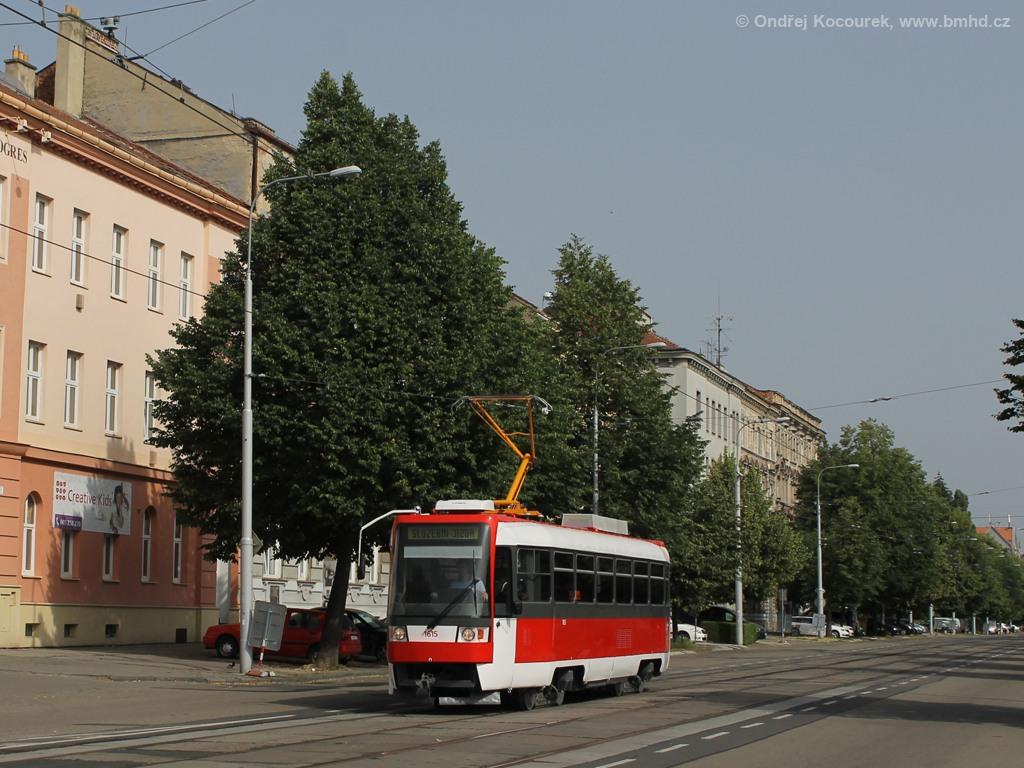 Fotogalerie » ČKD Tatra T3R 1615 | Brno | Královo Pole | Štefánikova