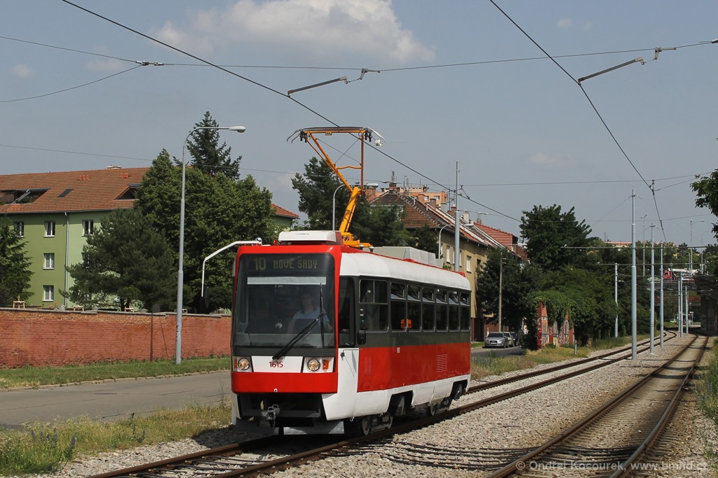 Fotogalerie » ČKD Tatra T3R 1615 | Brno | Židenice | Nezamyslova