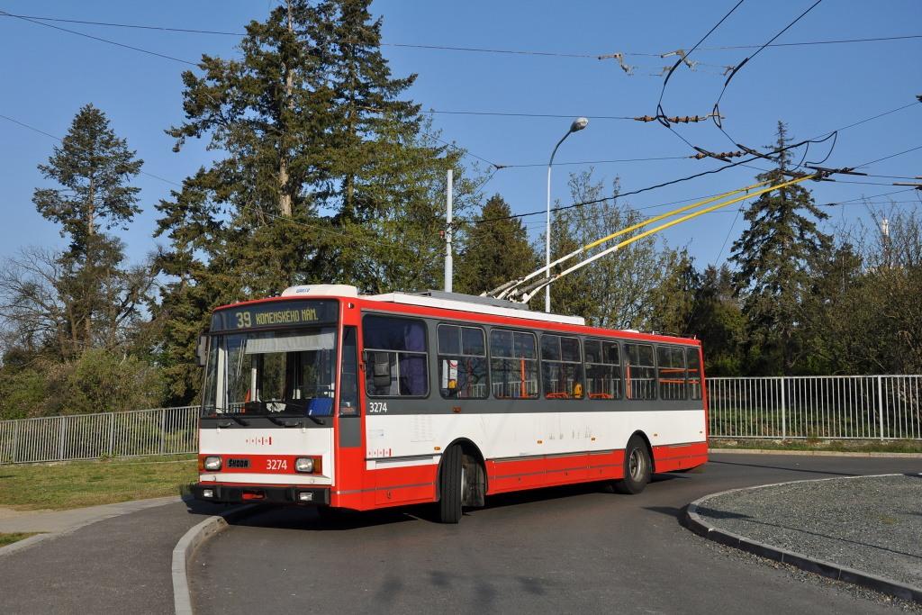 Fotogalerie » Škoda 14Tr17/6M 3274 | Brno | Masarykova čtvrť | Barvičova | Barvičova