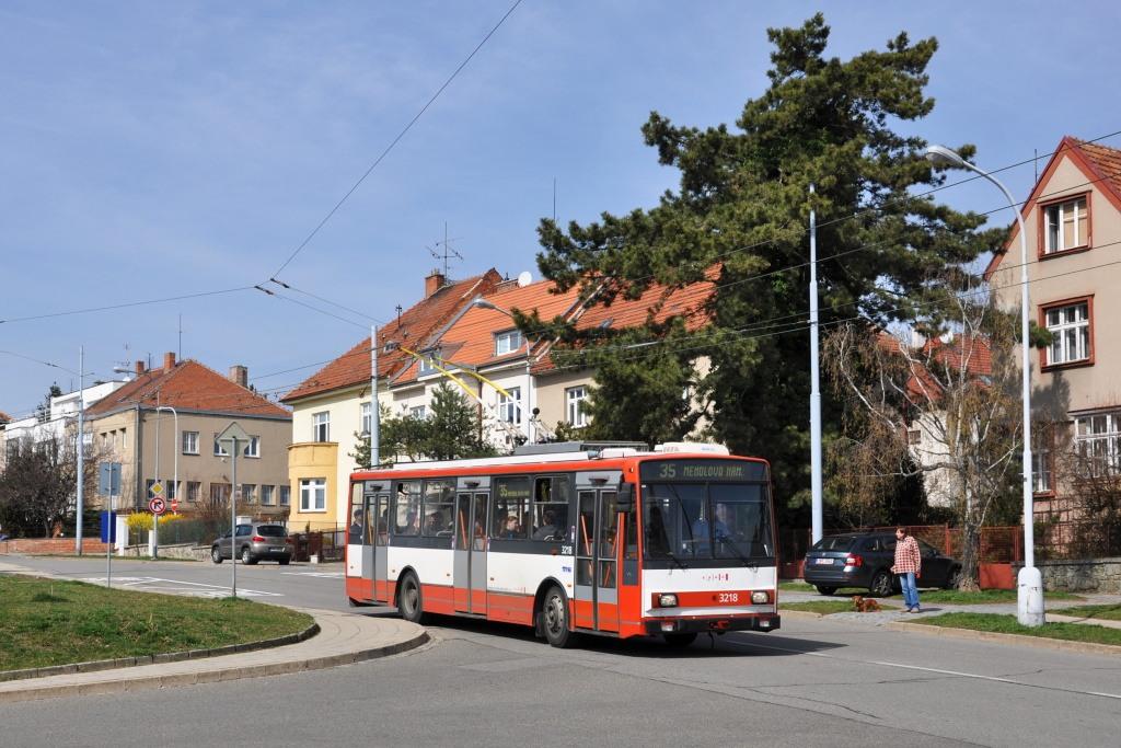 Fotogalerie » Škoda 14Tr08/6 3218   Brno   Masarykova čtvrť   Barvičova   Kampelíkova