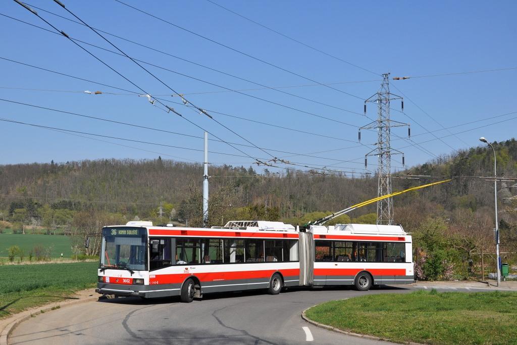 Fotogalerie » Škoda 22Tr 3602 | Brno | Komín | Řezáčova | Řezáčova