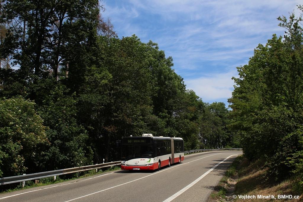 Fotogalerie » Solaris Urbino 18 III 1BA 0411 2649 | Brno | Kohoutovice | Žebětínská