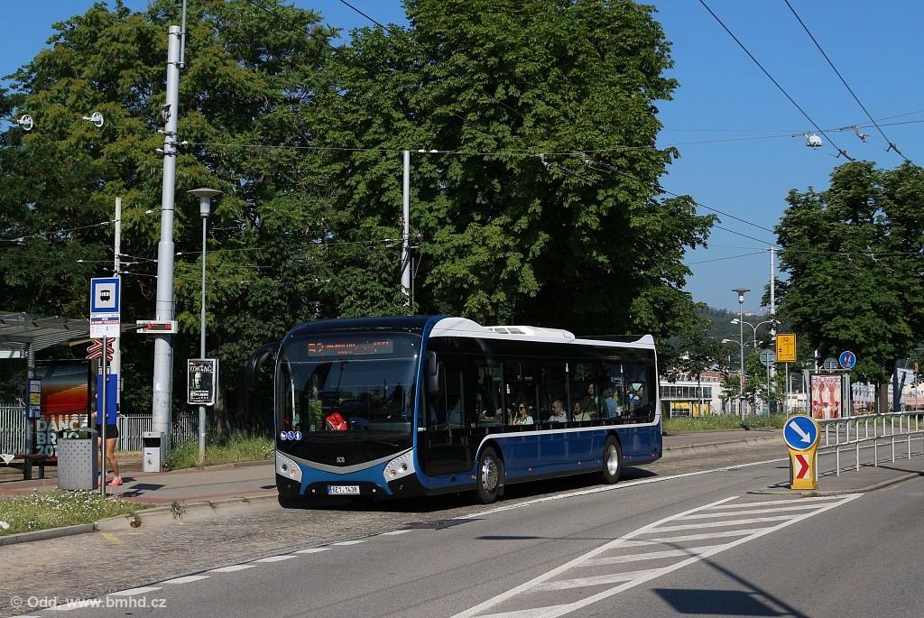 Fotogalerie » SOR NS 12 6E1 1438 2722 | Brno | Pisárky | Hlinky | Lipová