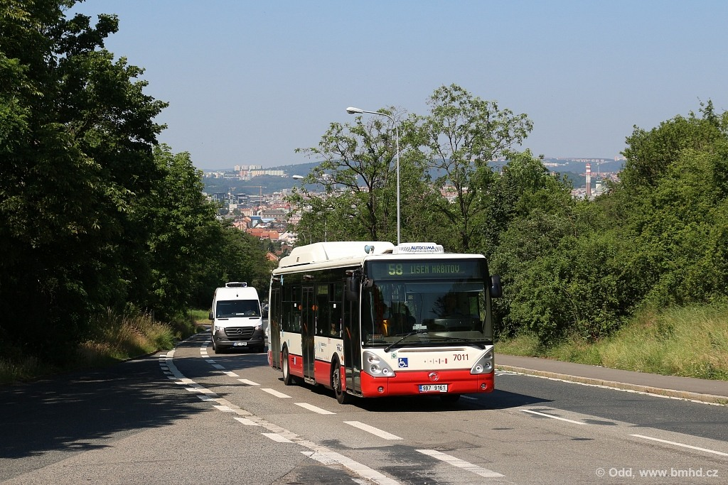 Fotogalerie » Irisbus Citelis 12M CNG 9B7 9161 7011   Brno   Juliánov   Líšeňská