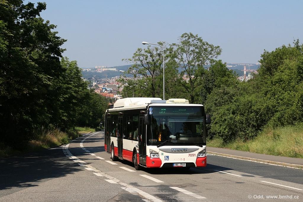 Fotogalerie » Iveco Urbanway 12M CNG 1BC 7540 7091 | Brno | Juliánov | Líšeňská