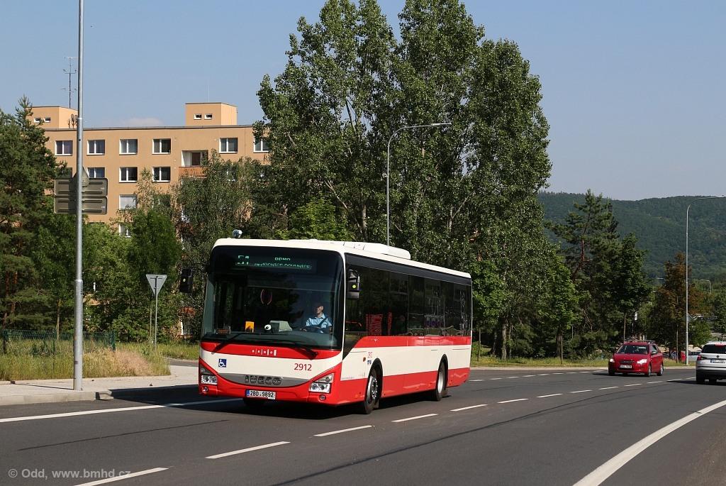 Fotogalerie » Iveco Crossway LE LINE 12M 2BD 9892 2912   Brno   Bystrc   Vejrostova