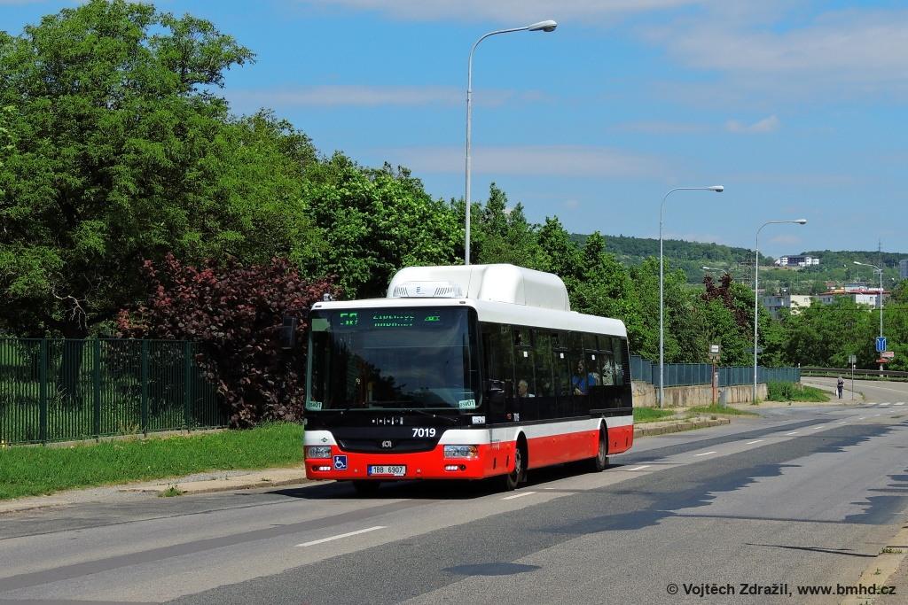 Fotogalerie » SOR NBG 12 1BB 6907 7019 | Brno | Líšeň | Křtinská