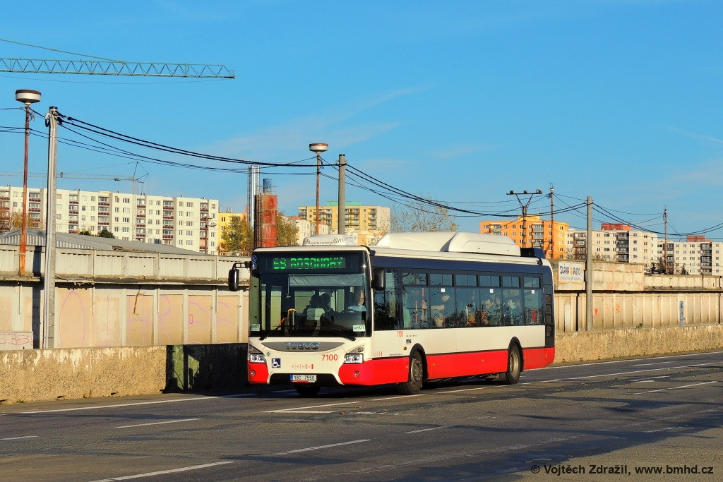 Fotogalerie » Iveco Urbanway 12M CNG 1BC 7550 7100 | Brno | Bosonohy | Jihlavská