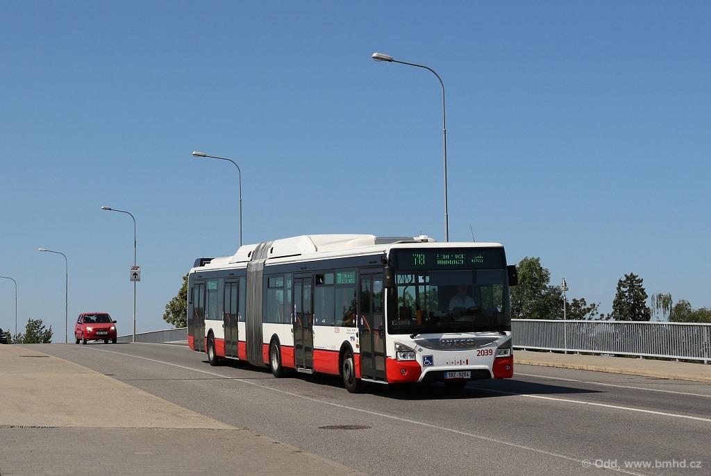 Fotogalerie » Iveco Urbanway 18M CNG 1BZ 9264 2039 | Brno | Slatina | Tuřanka