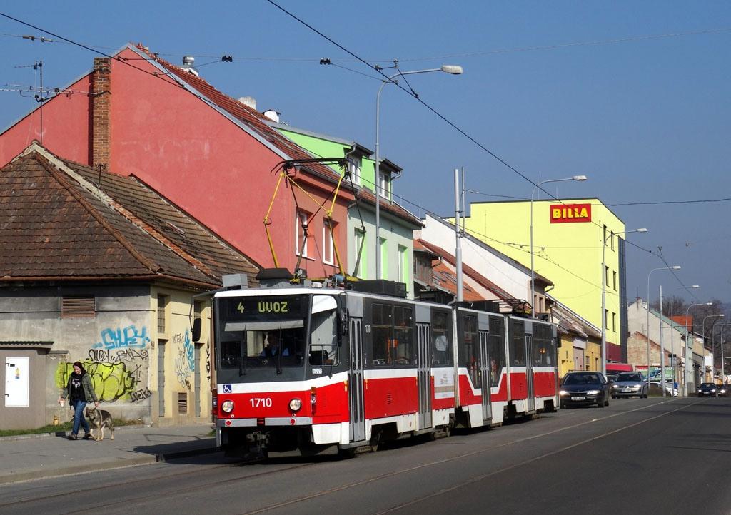 Fotogalerie » ČKD Tatra KT8D5R.N2 1710 | Brno | Maloměřice | Obřanská