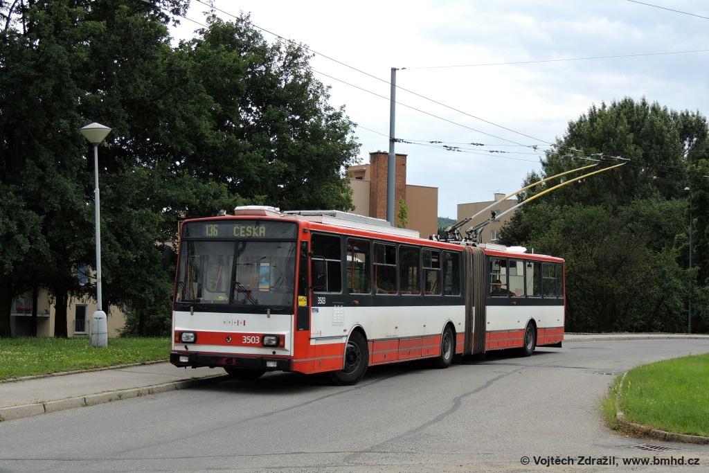 Fotogalerie » Škoda 15TrM 3503 | Brno | Komín | Řezáčova | Komín, sídliště