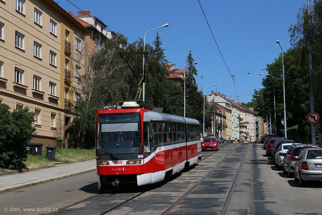 Fotogalerie » ČKD Tatra K2R03-P 1049 | Brno | Černá Pole | Merhautova