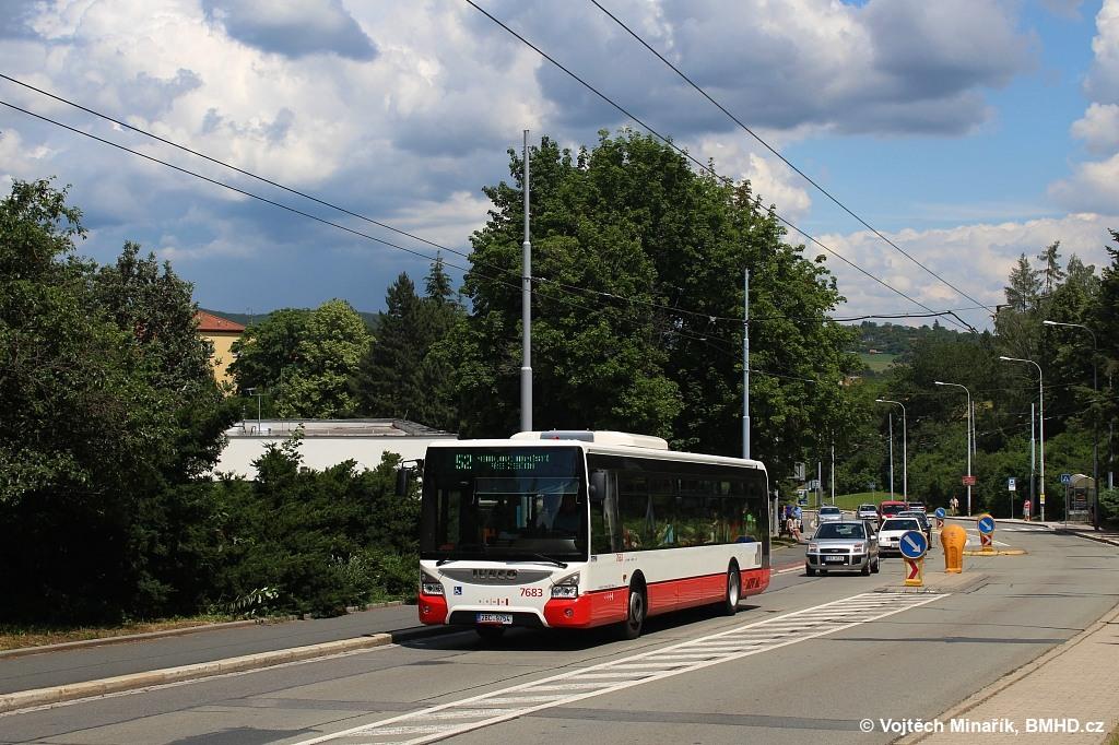 Fotogalerie » Iveco Urbanway 12M 2BC 9754 7683 | Brno | Bystrc | Odbojářská