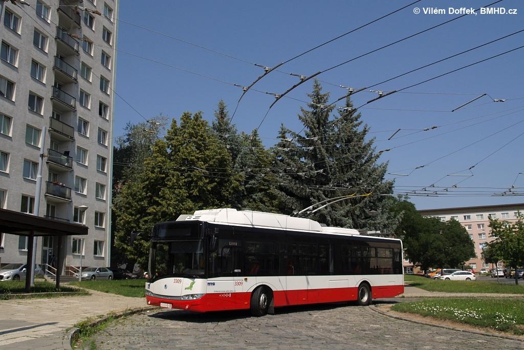 Fotogalerie » Škoda 26Tr 3309 | Brno | Královo Pole | Srbská | Srbská, smyčka