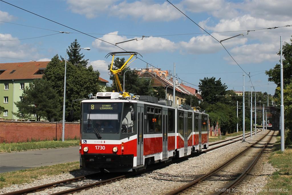 Fotogalerie » ČKD Tatra KT8D5N 1730 | Brno | Židenice | Nezamyslova