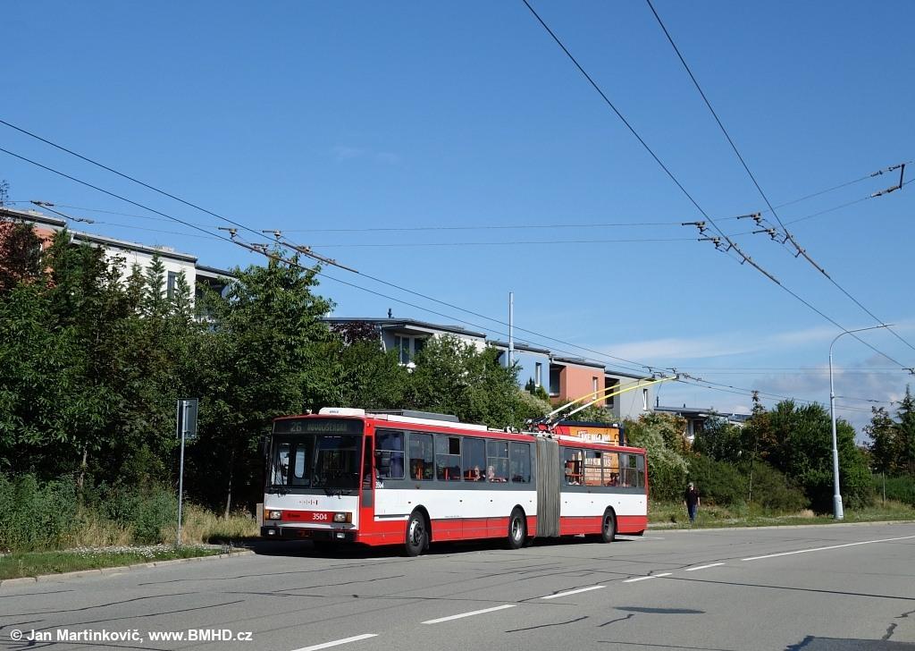 Fotogalerie » Škoda 15TrM 3504 | Brno | Vinohrady | Věstonická | Mutěnická