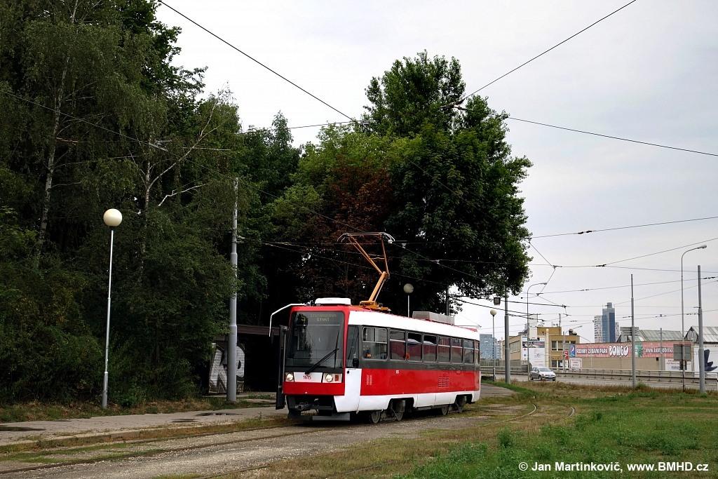 Fotogalerie » ČKD Tatra T3R 1615 | Brno | Horní Heršpice | Vídeňská | Ústřední hřbitov, smyčka