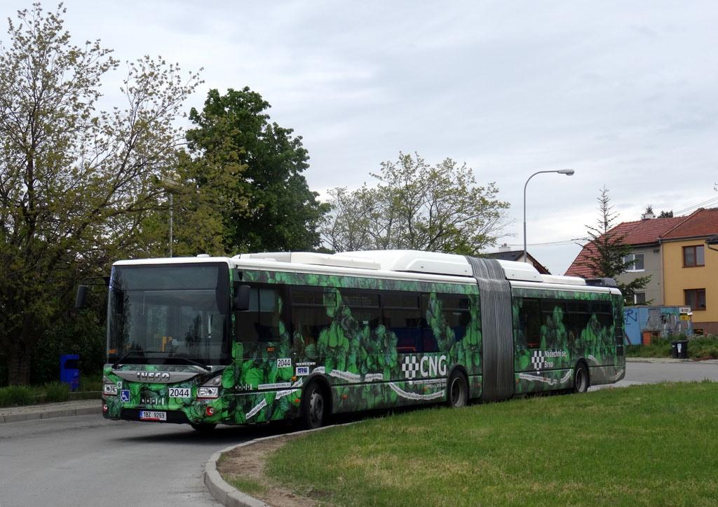 Fotogalerie » Iveco Urbanway 18M CNG 1BZ 9269 2044 | Brno | Chrlice | Rebešovická | Chrlice, smyčka