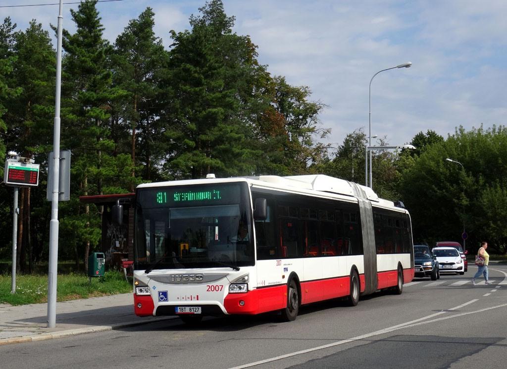 Fotogalerie » Iveco Urbanway 18M CNG 1BT 8127 2007 | Brno | Lesná | Okružní | Lesná, nádraží