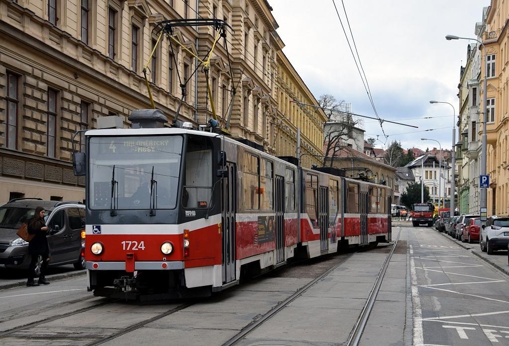 Fotogalerie » ČKD Tatra KT8D5R.N2 1724 | Brno | střed | Údolní | Úvoz