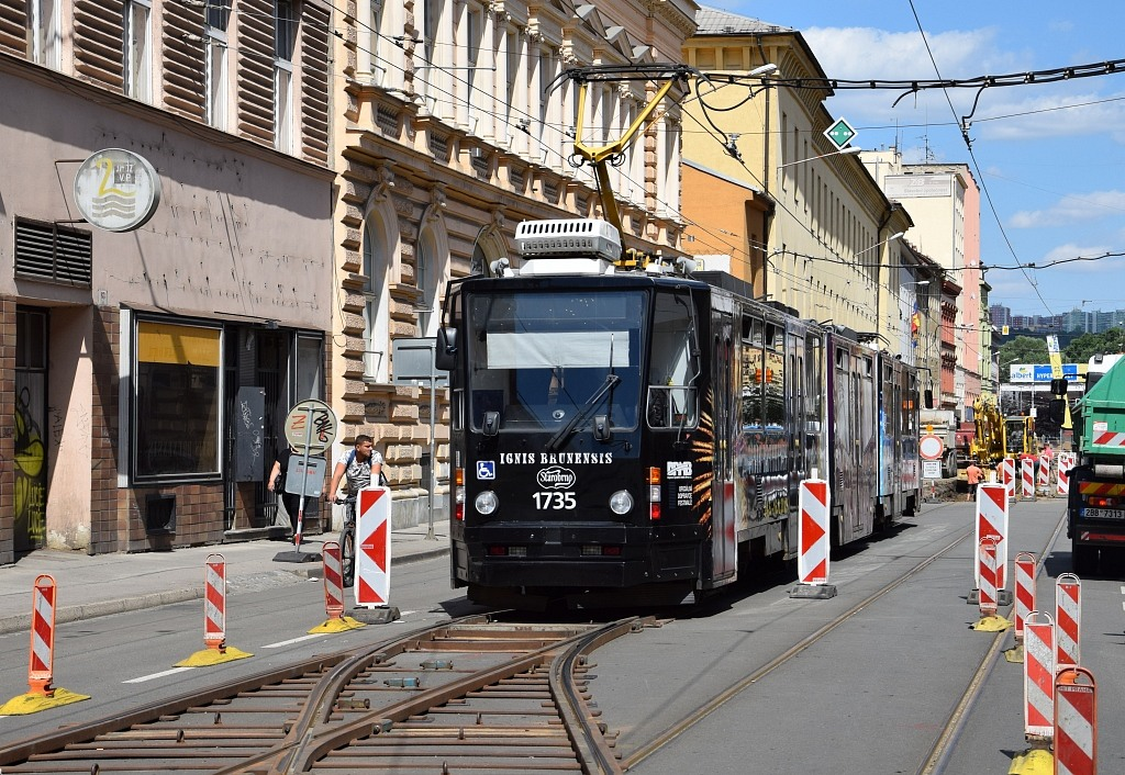 Fotogalerie » ČKD Tatra KT8D5N 1735 | Brno | střed | Cejl | Körnerova
