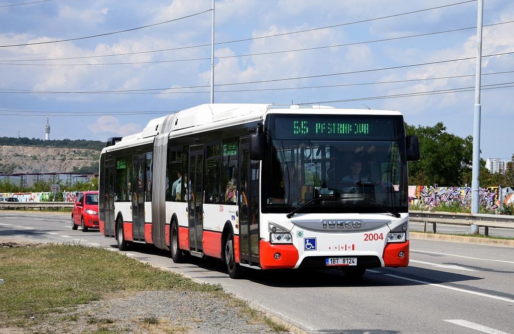 Fotogalerie » Iveco Urbanway 18M CNG 1BT 8124 2004 | Brno | Líšeň | Jedovnická