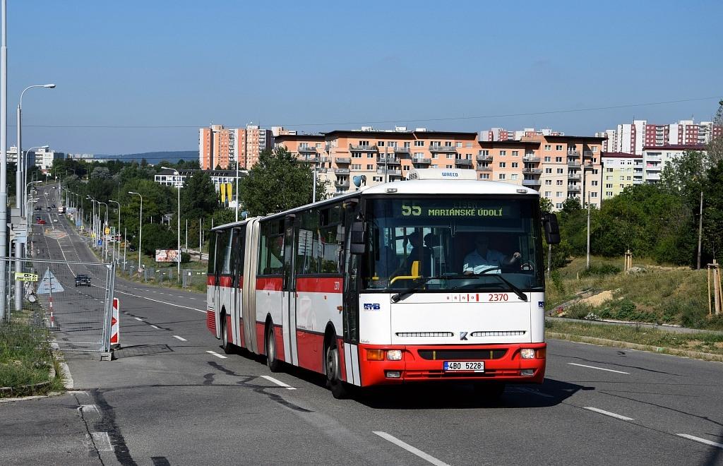 Fotogalerie » Karosa B961E.1970 4B0 5228 2370 | Brno | Líšeň | Novolíšeňská