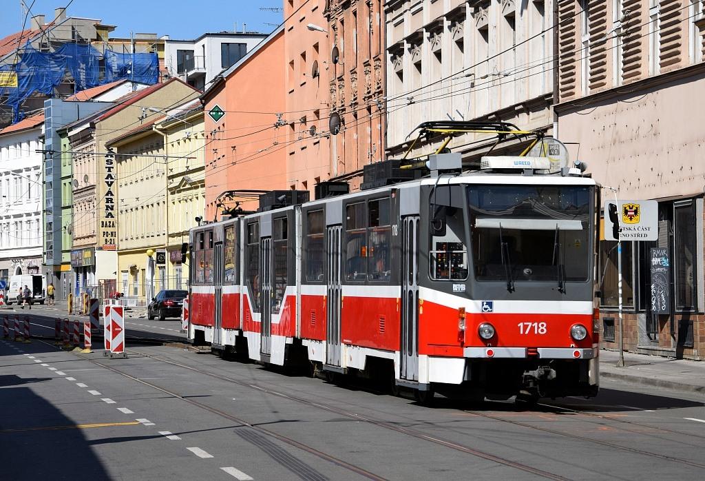 Fotogalerie » ČKD Tatra KT8D5R.N2 1718 | Brno | střed | Cejl | Körnerova