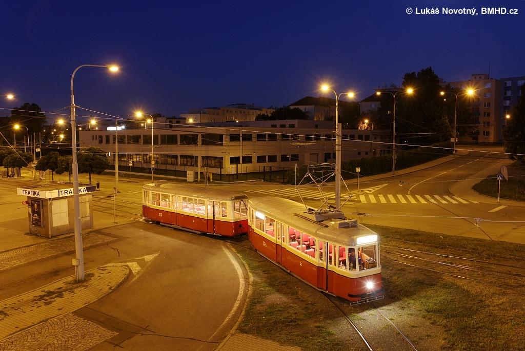 Fotogalerie » KPS Brno 4MT2 134 | KPS Brno vv4 313 | Brno | Královo Pole | Budovcova | Královo Pole, nádraží