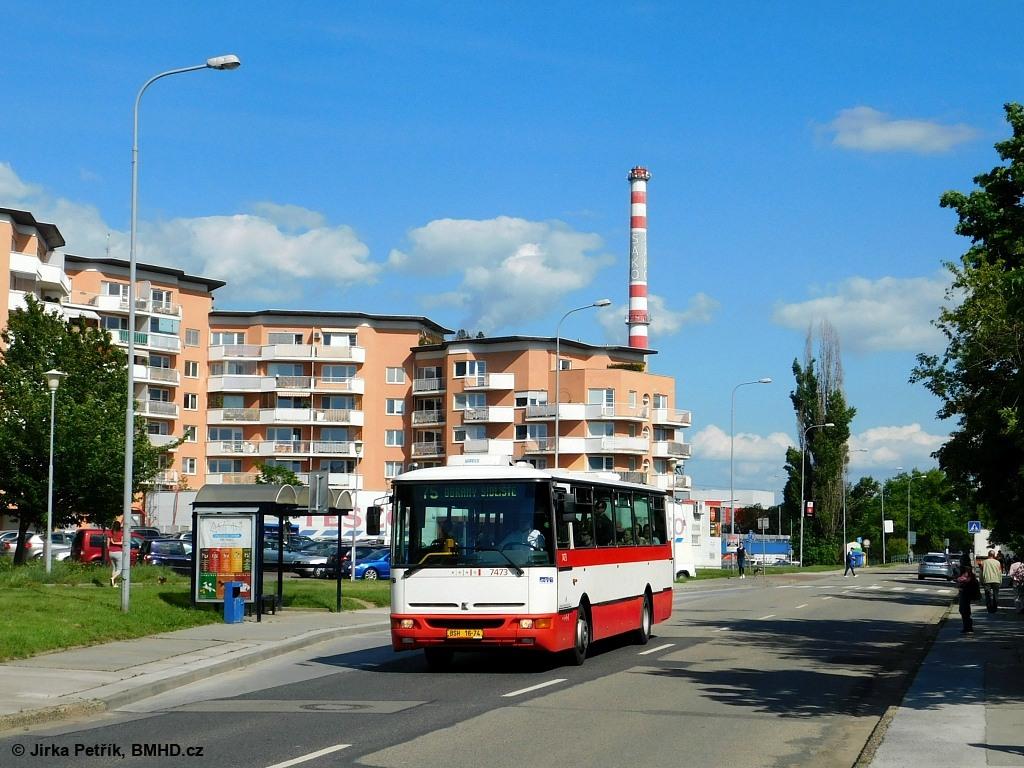 Fotogalerie » Karosa B931E.1707 BSH 16-74 7473 | Brno | Juliánov | Bělohorská | Špačkova