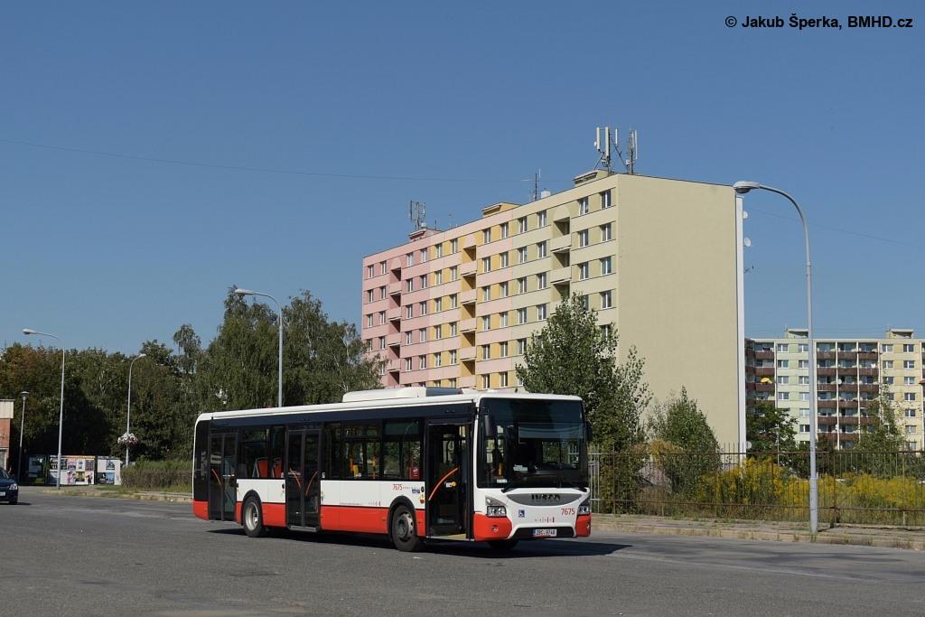 Fotogalerie » Iveco Urbanway 12M 2BC 9746 7675 | Brno | Komárov | Hodonínská | Mariánské náměstí