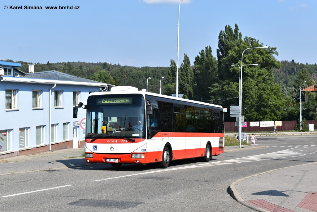 Fotogalerie » Irisbus Crossway LE 12M 7B3 3921 7811 | Brno | Medlánky | Hudcova
