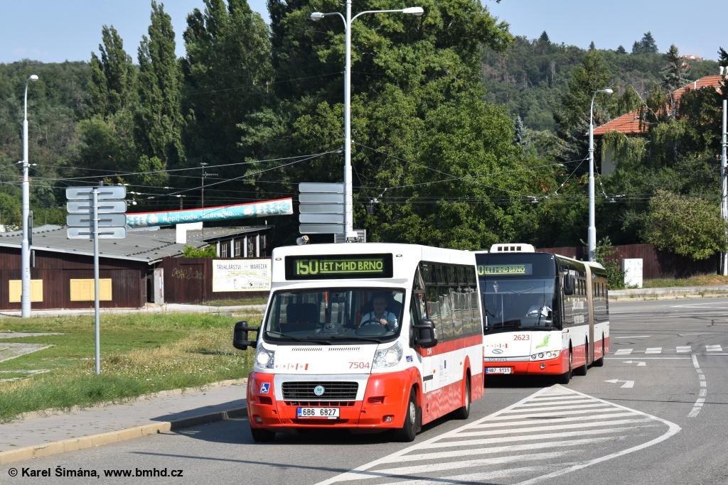 Fotogalerie » MAVE-Fiat CiBus ENA MAXI 6B6 6827 7504   Solaris Urbino 18 III 9B7 9131 2623   Brno   Medlánky   Hudcova