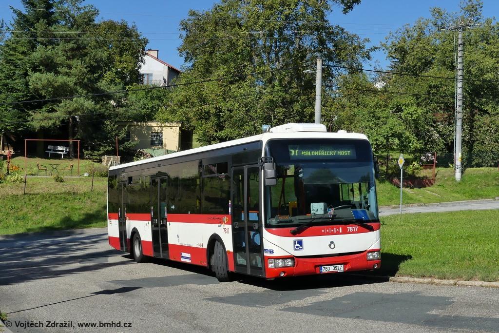Fotogalerie » Irisbus Crossway LE 12M 7B3 3927 7817 | Vranov | Kateřinská | Vranov, smyčka