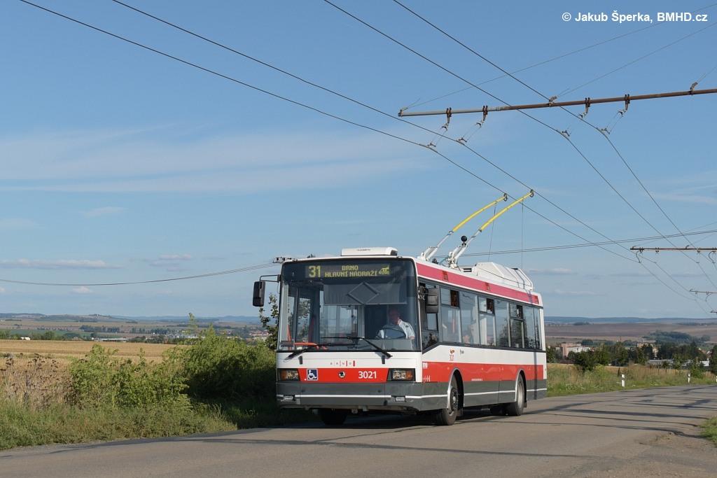 Fotogalerie » Škoda 21Tr 3021 | Šlapanice | Brněnská | Hraničky