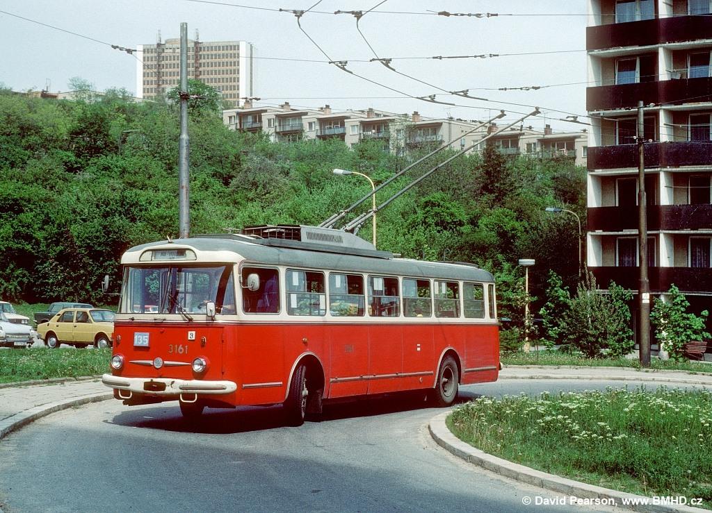 Fotogalerie » Škoda 9TrHT28 3161 | Brno | Žabovřesky | Vychodilova | Vychodilova, smyčka