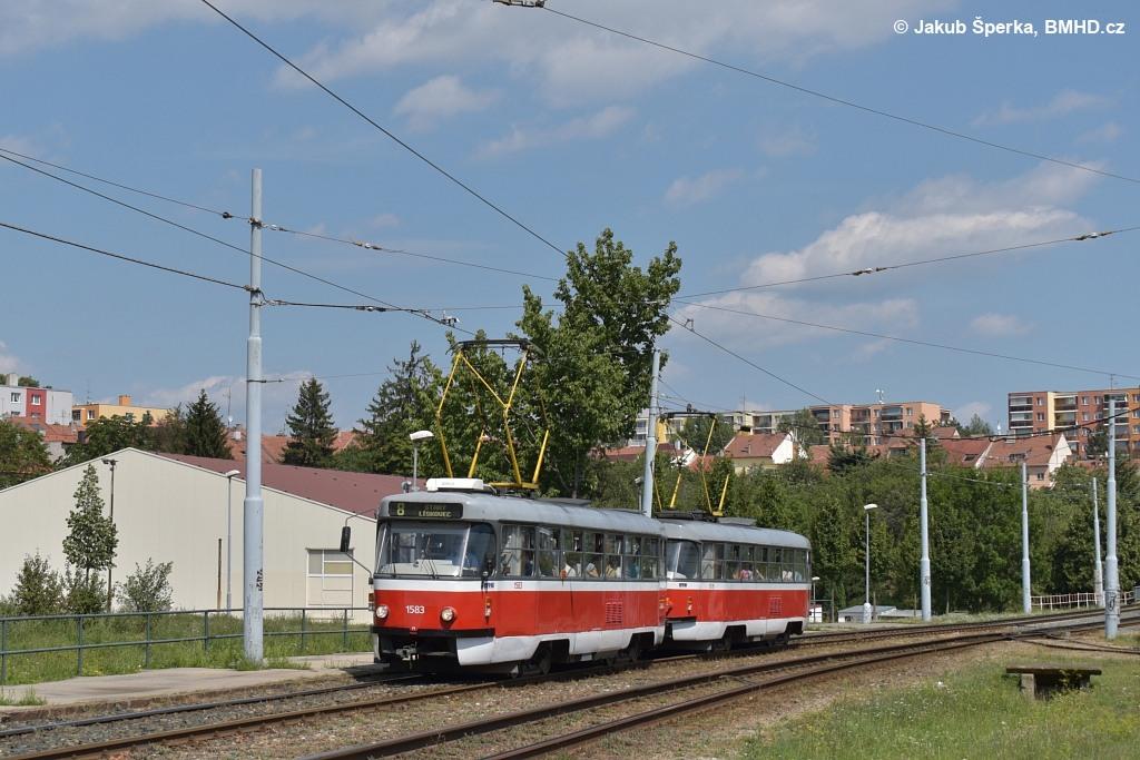 Fotogalerie » ČKD Tatra T3P 1583 | Brno | Bohunice