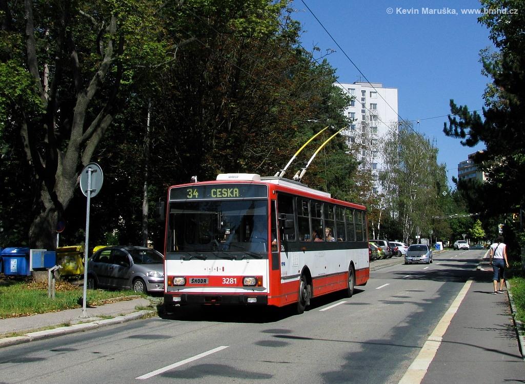 Fotogalerie » Škoda 14Tr17/6M 3281 | Brno | Žabovřesky | Jindřichova