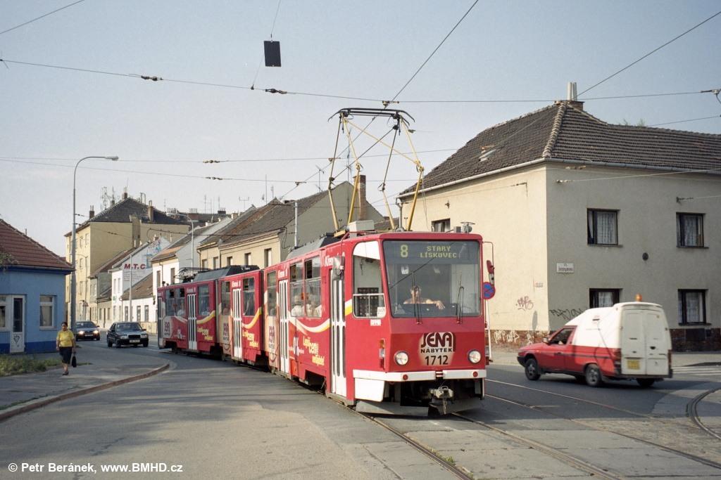 Fotogalerie » ČKD Tatra KT8D5 1712 | Brno | Židenice | Životského | Životského