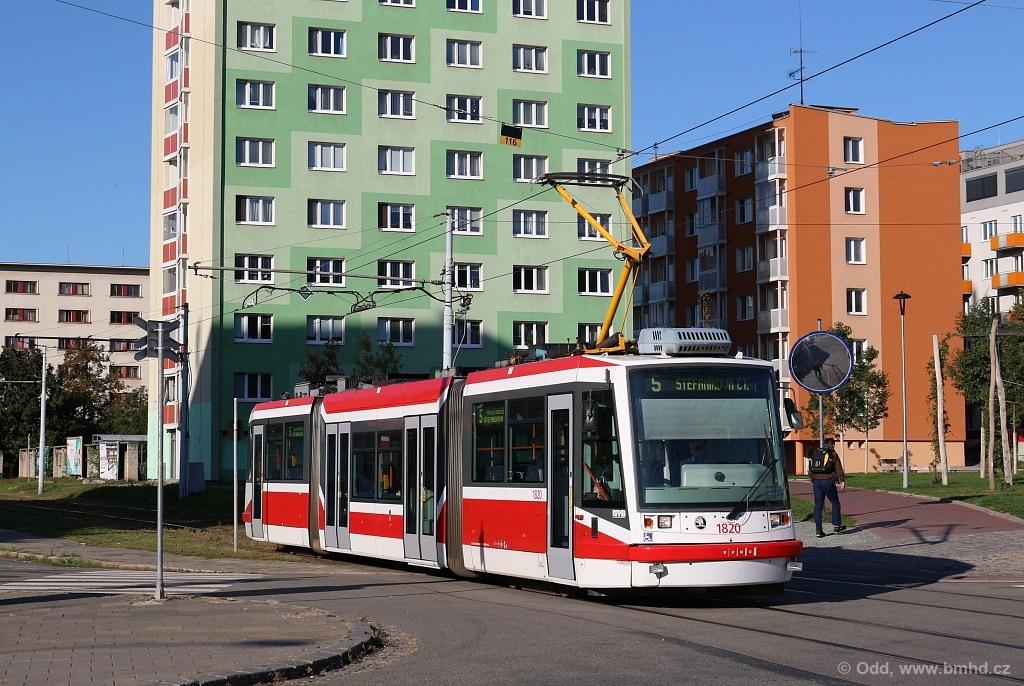 Fotogalerie » Škoda 03T7 1820 | Brno | Staré Brno | Mendlovo náměstí