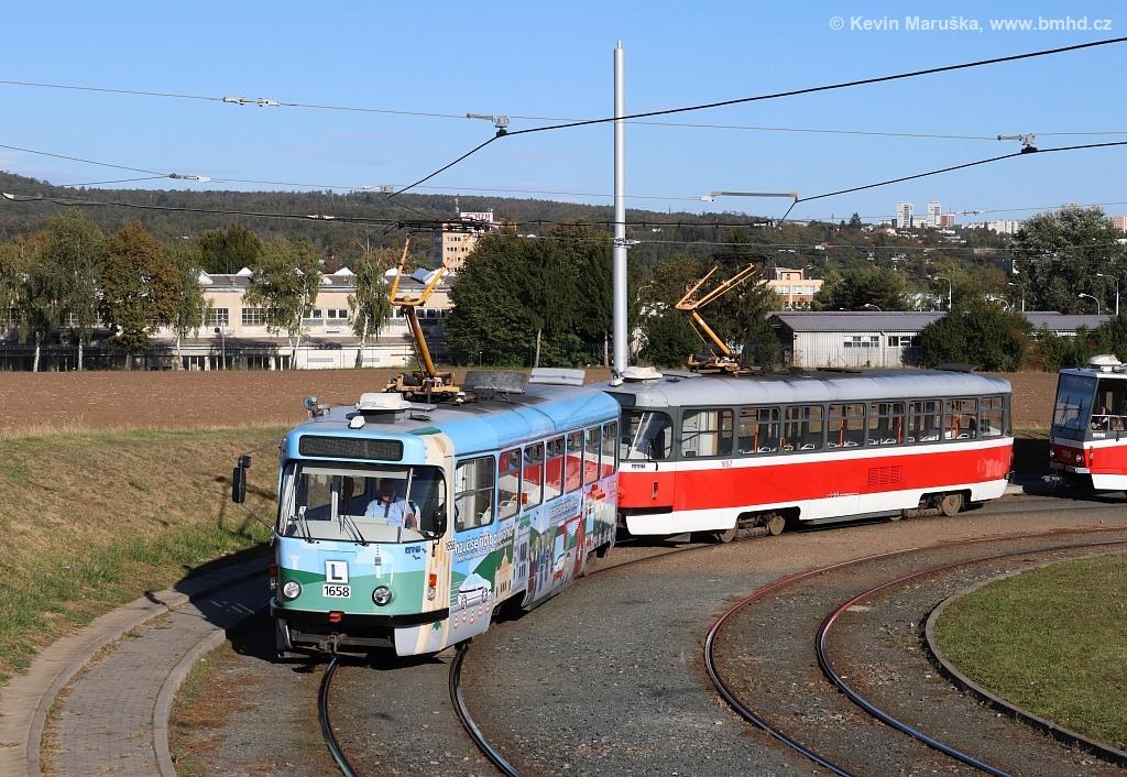 Fotogalerie » Pragoimex T3R.PV 1658 | Pragoimex T3R.PV 1657 | Brno | Medlánky | Purkyňova | Technologický park, smyčka