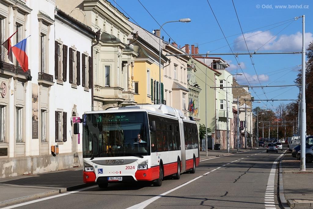 Fotogalerie » Iveco Urbanway 18M CNG 1BZ 7149 2024 | Brno | Pisárky | Hlinky