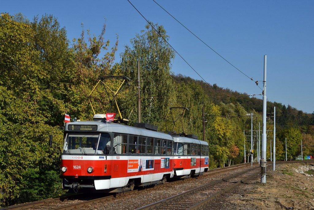 Fotogalerie » ČKD Tatra T3G 1624   ČKD Tatra T3G 1625   Brno   Bystrc
