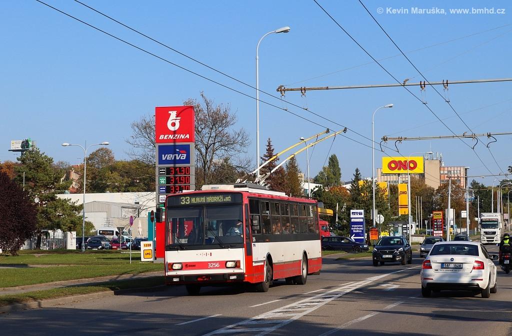 Fotogalerie » Škoda 14TrR 3256 | Brno | Slatina | Hviezdoslavova
